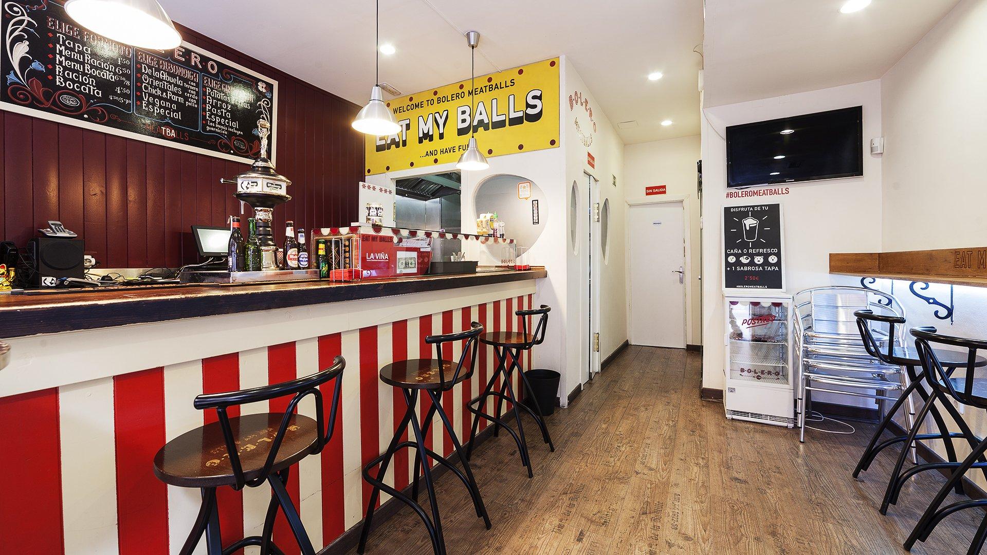 Comer cerca de Gran Vía Madrid, Bolero Meatballs